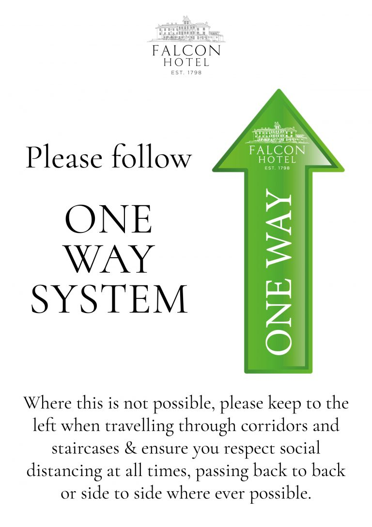 Covid customer directional sign2