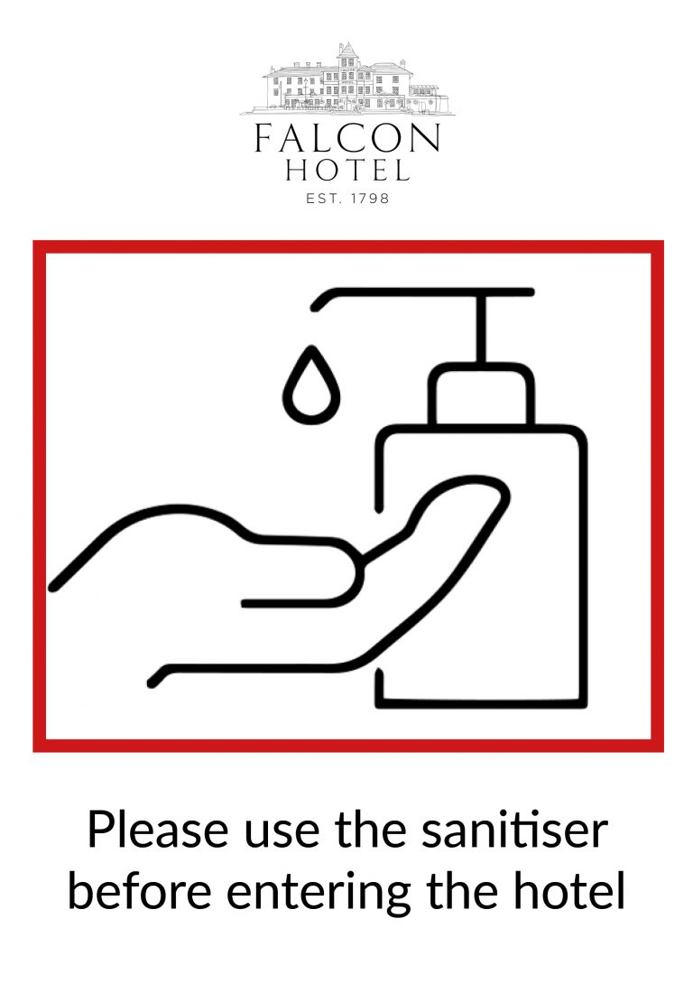 Covid sanitise hands sign