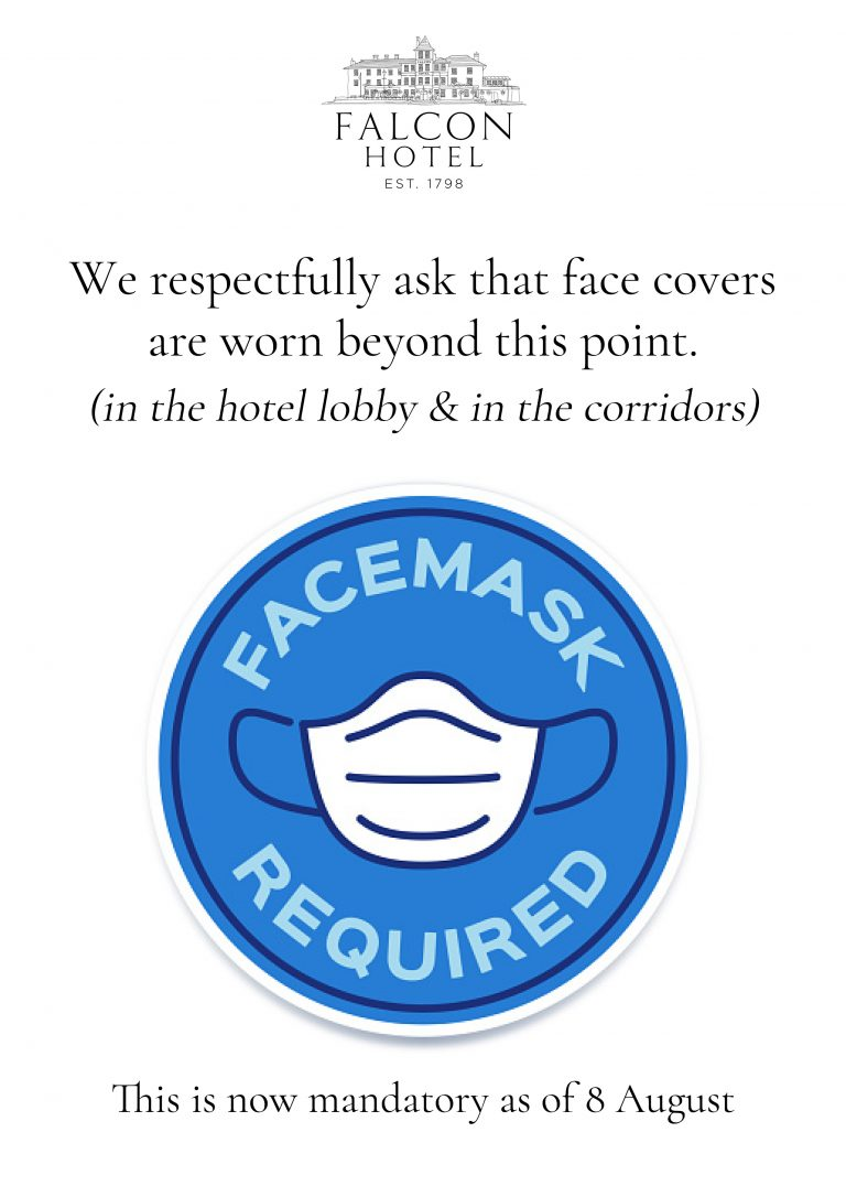 Covid Face Masks sign